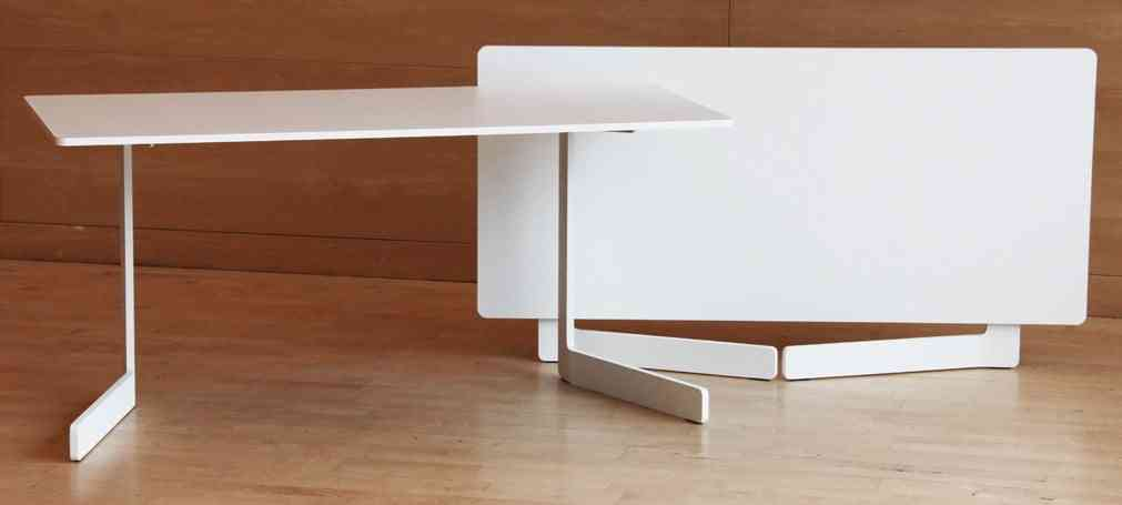 Ola una mesa plegable con dise o contempor neo video - Mesa estudio plegable ...