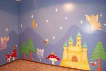 La pared de una habitaci n infantil video decoraci n - Dibujo pared habitacion infantil ...