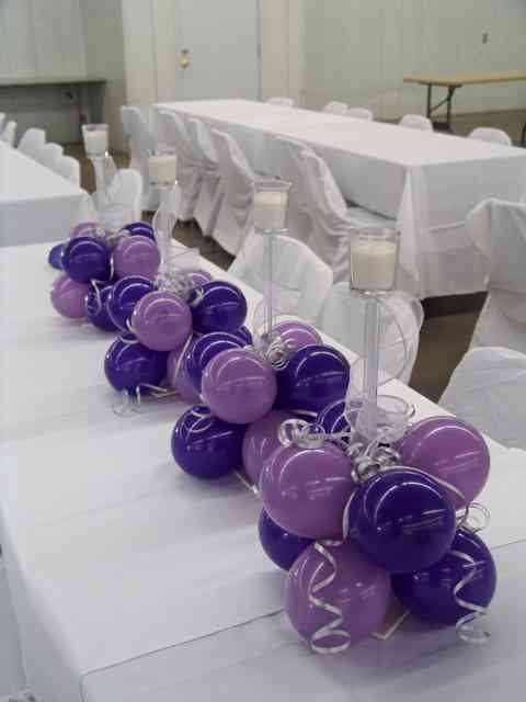 Centro de mesa con globos video decoración