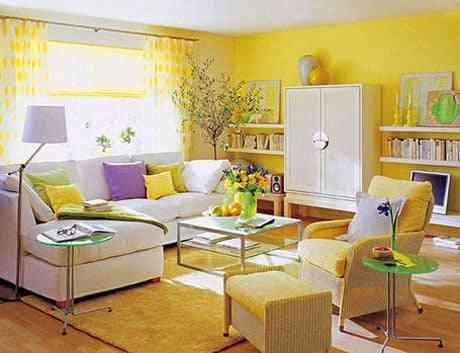 decoracion primaveral salon