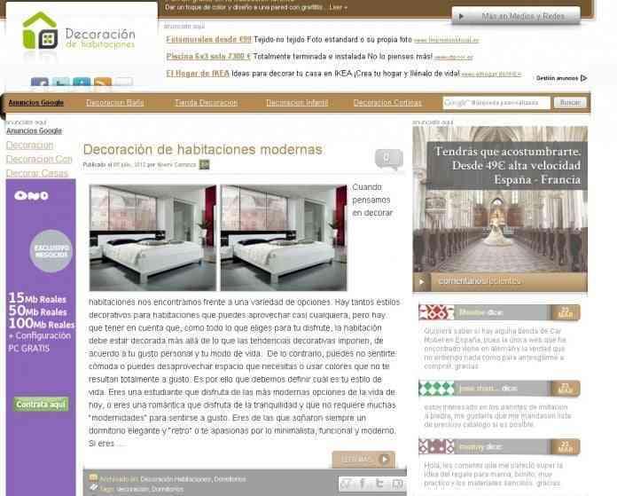 decoracion habitaciones medios y redes