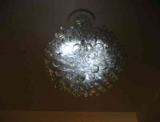 lampara de botellas de plastico