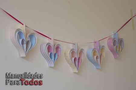 guirnalda de corazones para san valentin