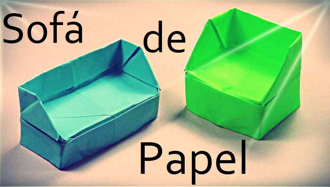 Origami: cómo hacer un sofá de papel
