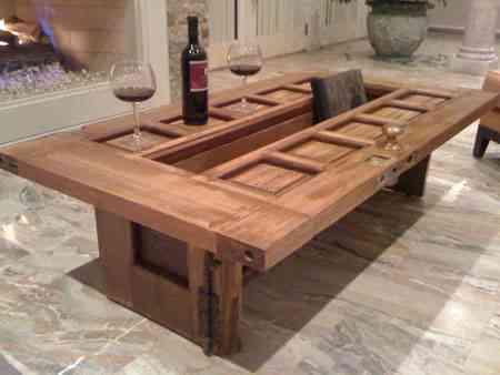 Cómo hacer una mesa de comedor con muebles reciclados