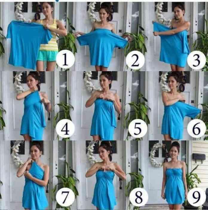 tutorial para hacer un vestido de una camiseta
