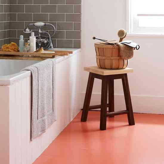 cocina con suelo de vinilo