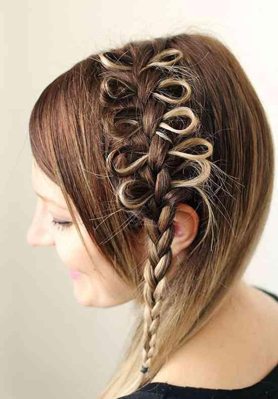 peinado estilo bow