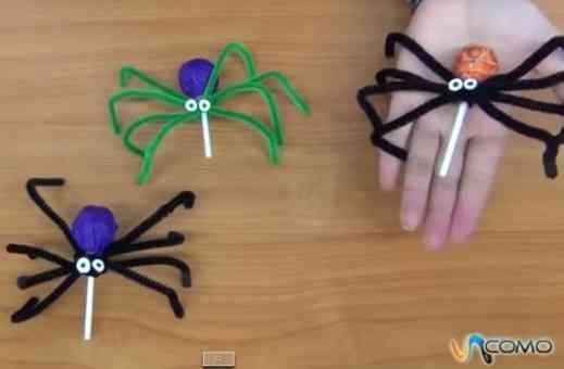 arañas para decorar en halloween