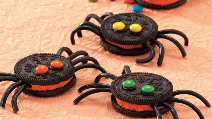 receta para halloween arañas de oreo