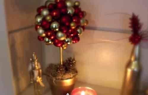 topiario navideño para decorar