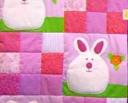 cubrecama de bebé en patchwork