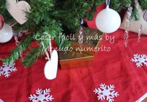 faldón de árbol navideño