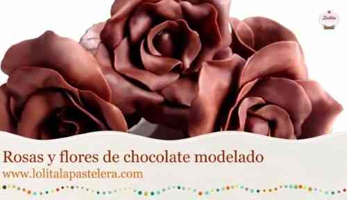 hacer rosas de chocolate