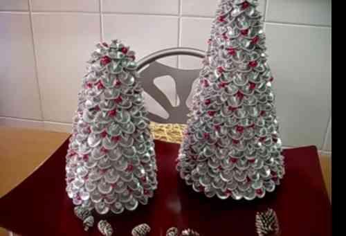 árbol navideño de pasta