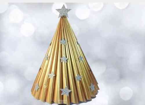 revistas recicladas para hacer árbol navideño