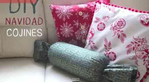 cojiines navideños para decorar