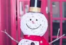hombre de nieve para decorar
