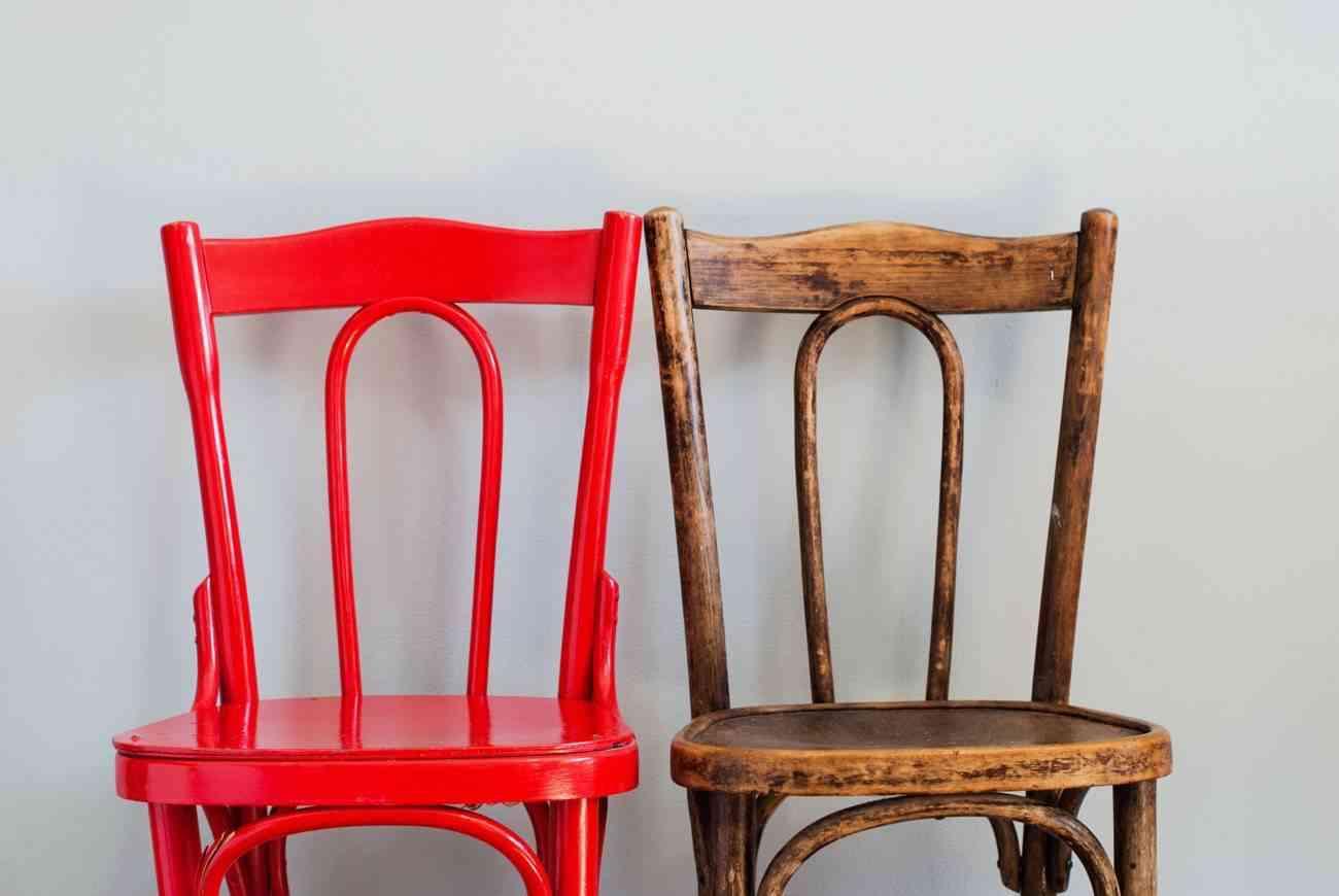 restauración de viejos muebles