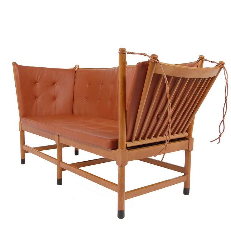 silla puf roja de diseño
