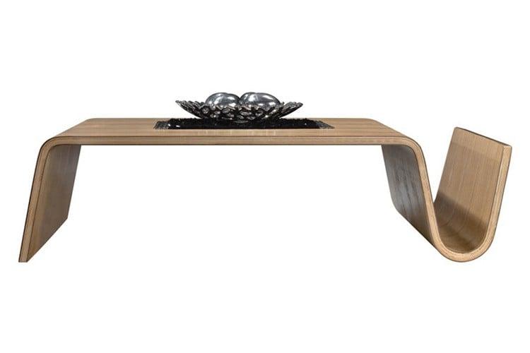 mesa de cafe hecha en madera