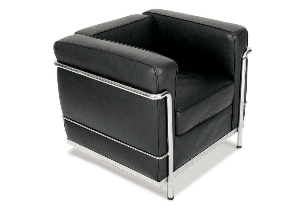 silla para salon de cuero