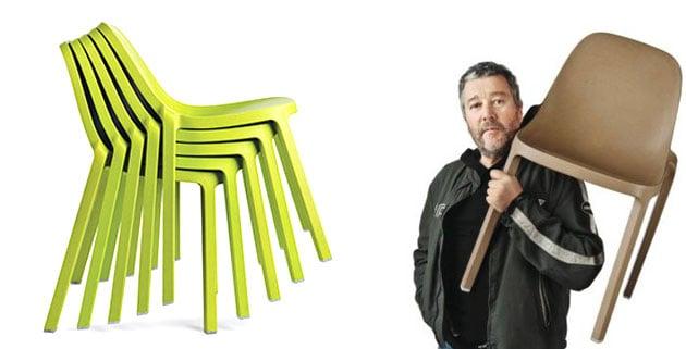 sillas en color verde de diseño