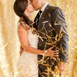 confetti de color dorado para bodas