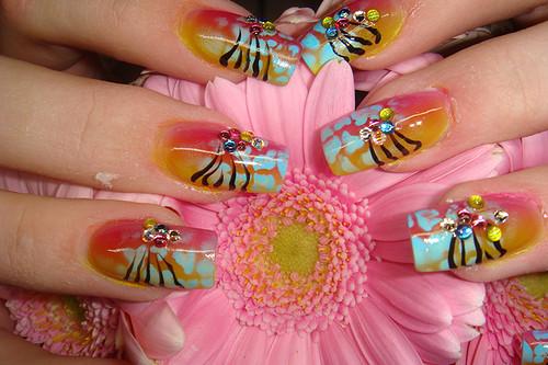 uñas pintadas para el verano