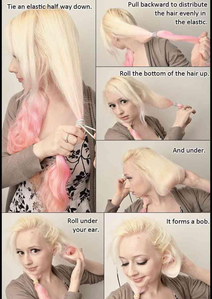 tutorial recogido cabello rubio