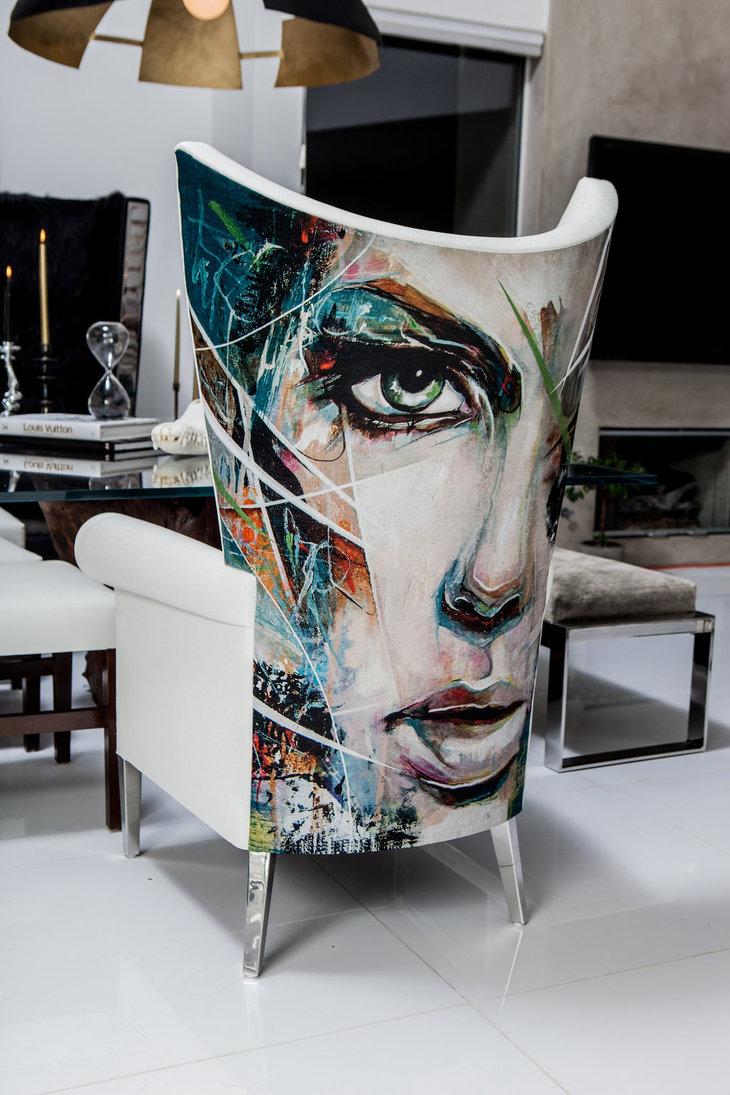 silla o butaca blanca de diseño