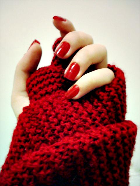 uñas en color rojo