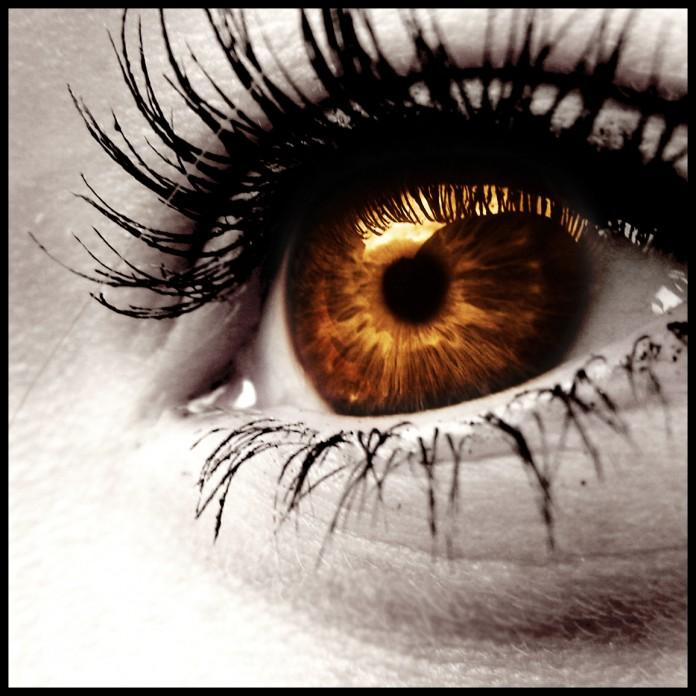 ojo de cerca