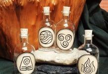 botellas de cristal pintadas