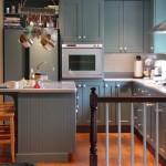 pequeña cocina azul