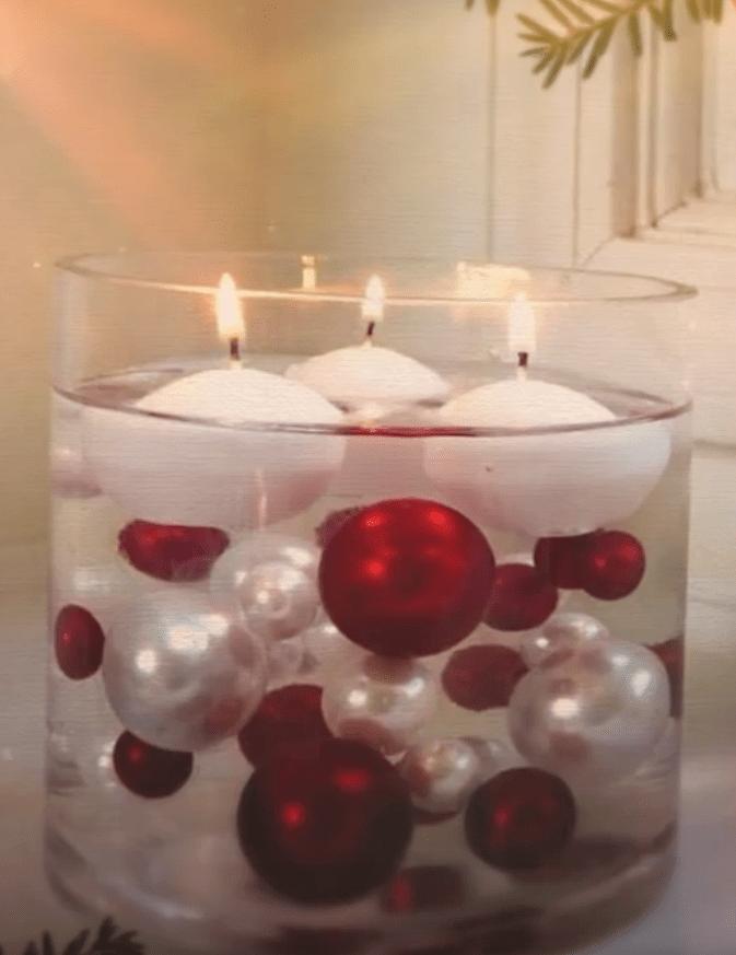 fabricar un centro de mesa navideño