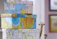 forrar cajas con papel