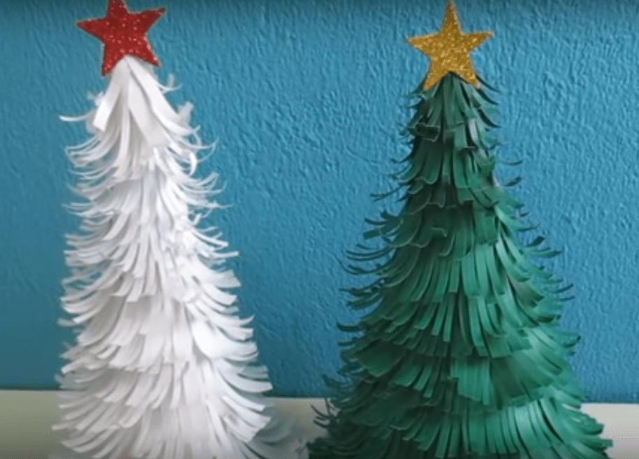 Decorar Arbol Navidad En Papel.Arbol De Navidad De Papel Video Decoracion