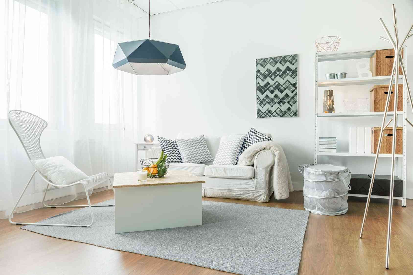 Trendy furniture in room