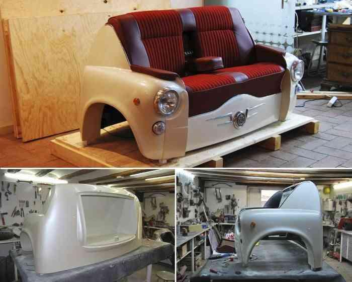 sofa partes del coche